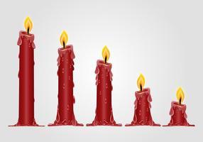 Brucia la candela rossa vettore