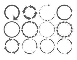Set di forme arrotondate a forma di freccia vettore