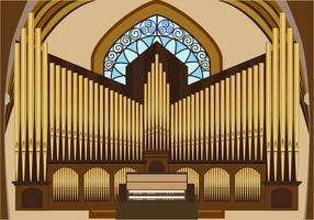 Illustrazione vettoriale di organo a canne