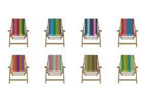 Vettore libero della sedia a sdraio della tela di pendenza di colore