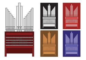 Illustrazione di organo a canne vettore