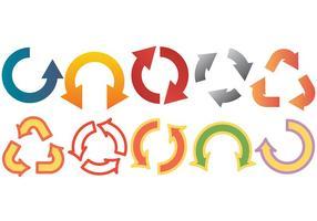 Icone rotonde vettoriali gratis