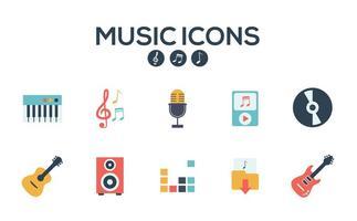 Musica icone vettoriali