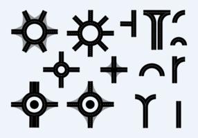 Rotonda e vettore dell'elemento della strada