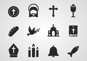 Vettore icone cattoliche
