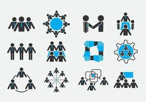 Lavorando insieme icone vettore