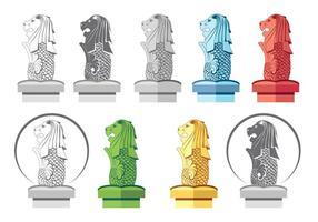Icona di Merlion piatta