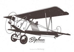 Illustrazione vettoriale di biplano
