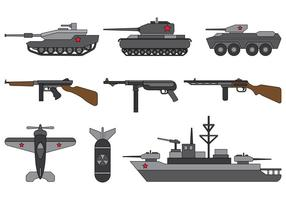 Set di World War 2 Vector