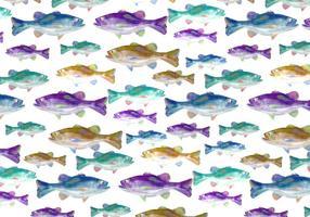 Priorità bassa libera del pesce basso dell'acquerello di vettore