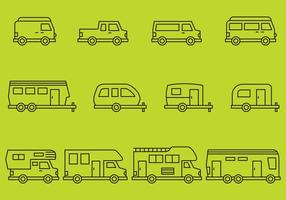 Icone di camper vettore