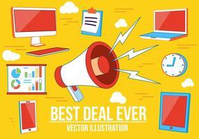 Illustrazione vettoriale di migliore affare