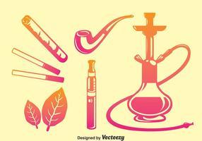 Fumo icone vettoriali