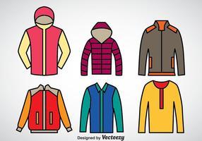 Insieme di vettore del cappotto di inverno