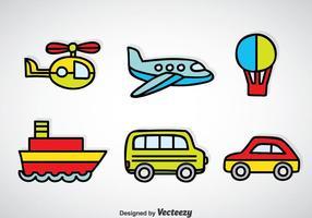 Vettore del fumetto del veicolo del trasporto
