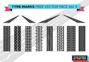 Pacchetto di segni di pneumatici per pneumatici Vol. 4 vettore