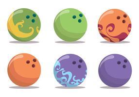 Insieme di vettore della palla da bowling