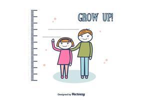Crescere sfondo vettoriale