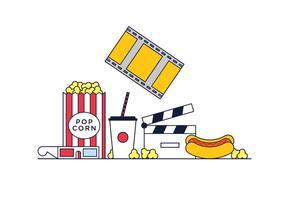 vettore pop corn