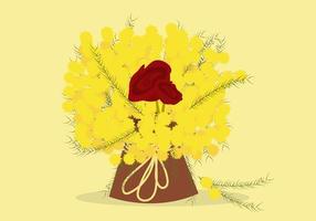 mimosa vettoriali gratis