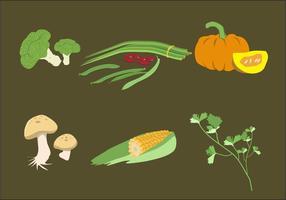 Vettore dell'illustrazione di verdure