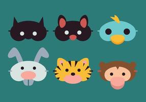 Animali della maschera di sonno vettoriale