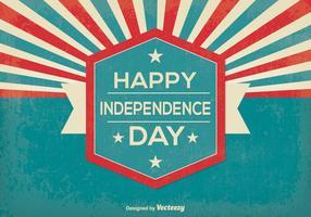 Illustrazione di giorno di indipendenza stile retrò