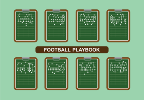Vettore di Playbook di calcio