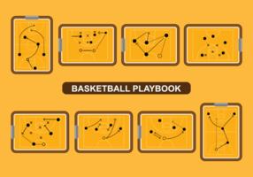 Vettore del playbook di pallacanestro