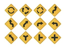 Vettori della freccia del segnale stradale