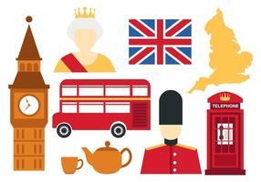 Vettore delle icone dell'Inghilterra