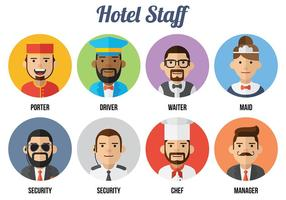 Concierge icone vettoriali gratis