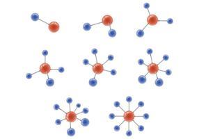 Set di vettore di atomium