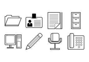 Vettore gratis dell'icona di Office Stuff