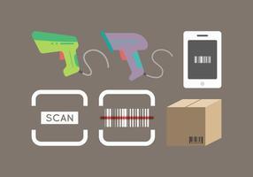 vettore gratuito di scanner di codici a barre 2