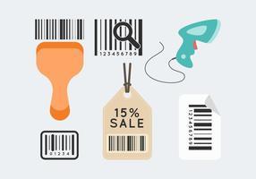 vettore gratuito di scanner di codici a barre 1
