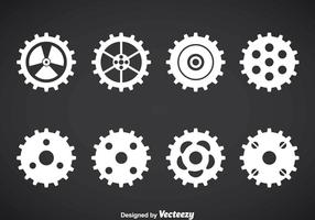 Set vettoriale di ingranaggi orologio