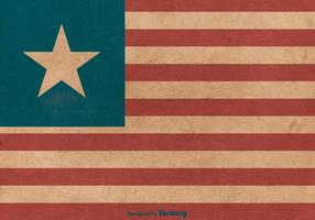 Bandiera del grunge della Liberia vettore