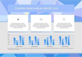 Presentazione vettoriale del rapporto annuale gratuito 6
