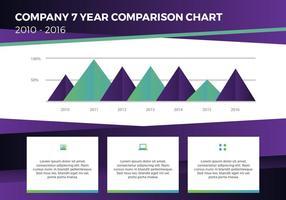 Presentazione vettoriale del rapporto annuale gratuito 15