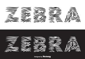 Zebra Vector Lettering gratuito
