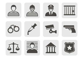 Vettore icone di crimine