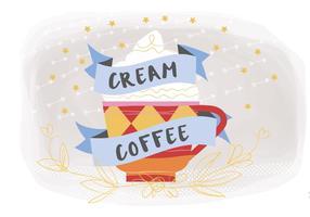 Sfondo vettoriale di caffè crema