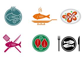Vettore di pesce fritto