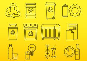 Icone dei rifiuti vettore