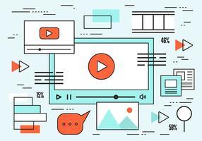 Fondo di vettore di web design lineare