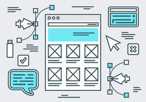 Fondo di vettore di layout piatto gratuito sito Web