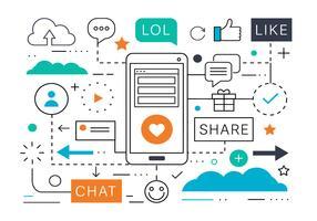 Illustrazione di vettore di vendita di media sociali