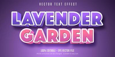 lavanda giardino viola e rosa effetto testo in grassetto vettore