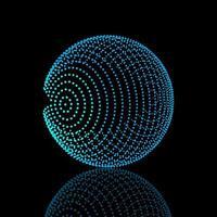 design a sfera a punti incandescente vettore